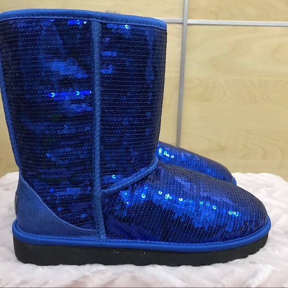 Brand New Colbalt Blue Sparkle Ugg Boots Size 10